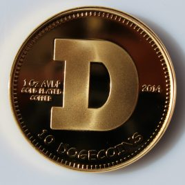 Physical Dogecoin – 2014 24kt Gold Plated Copper Edition